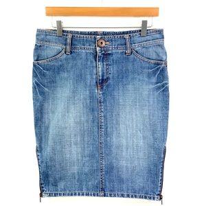 ARMANI EXCHANGE Denim Jean Skirt Size 8 C23